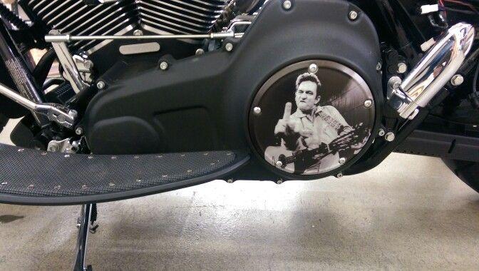 Johnny Cash Derby Cover Harley Davidson Customizing