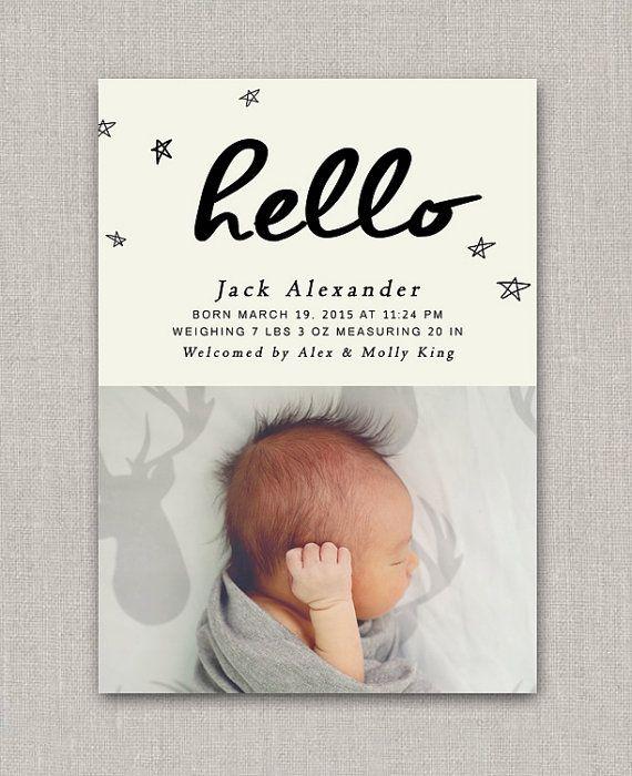 Baby Boy Birth Announcement - Jack