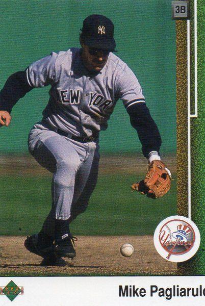 1989 Upper Deck Baseball Card Yankees Mike Pagliarula