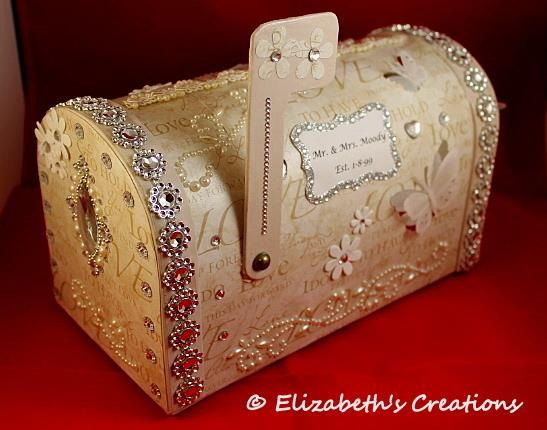 Personalized handcrafted wedding card mailbox keepsake is THE perfect touch. This very unique and elegant mailbox wedding card holder is the ultimate decoration for your wedding and a keepsake for many years to come. This one is adorned with I Do & to have & hold paper, flowers, rhinestones, butterflies and pearl lace. As you can see, even the inside has the perfect touch as well. I can either put in Mr& Mrs (last name) and your wedding date or your first names. It is your choice. Would you…