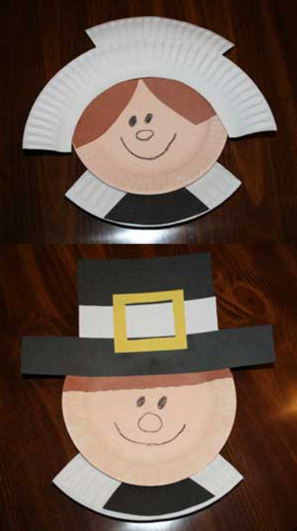 Pin for Later: 19 Cool Thanksgiving Crafts For Kids Paper Plate Pilgrims Turkeys aren't the only game in town. Making paper plate pilgrims with your tots is a great opportunity to teach them about the first Thanksgiving.