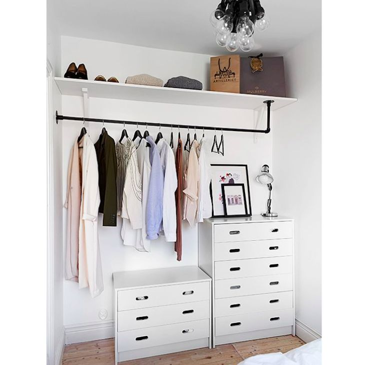 i would like to do this to save money and create some nice looks. maybe buy a bunch of older chest of drawers that open and close well or get them from ikea and have the pipe built in
