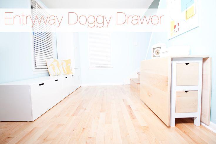 A Pretty Organized Doggy Drawer | Dog Organization | Pretty Fluffy - the entry way
