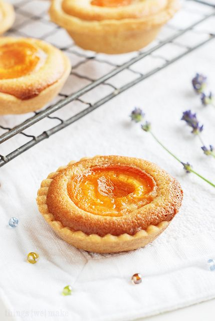 "Honeyed Apricot Frangipane Tarts from a blog called ""Things {We} Make"". ♥ Dessert"