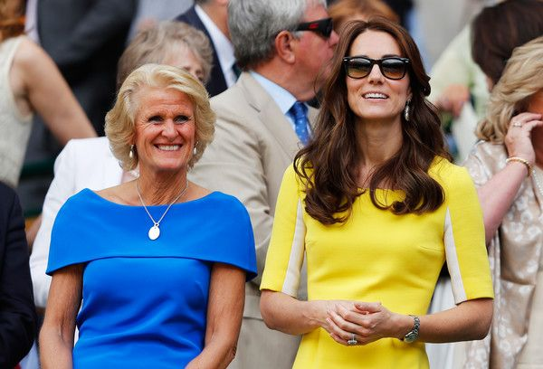 Kate Middleton Photos - Gill Brook and Catherine, Duchess of Cambridge watch on from The Royal Box during the Ladies Singles Semi Final match between Venus Williams of The United States and Angelique Kerber of Germany on day ten of the Wimbledon Lawn Tennis Championships at the All England Lawn Tennis and Croquet Club on July 7, 2016 in London, England. - Day Ten: The Championships - Wimbledon 2016