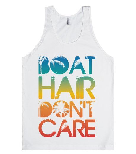 Boat Hair Don't Care | Tank Top | Front