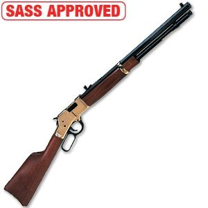 "Henry Big Boy Lever Action Rifle in .357 Magnum, Brass Receiver, Walnut Stock, 20"" Octagonal Barrel"