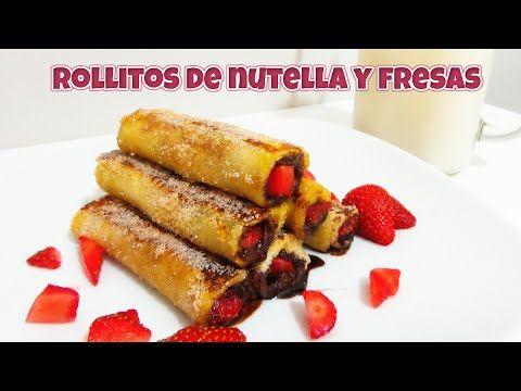 Recetas con Nutella: Rollitos de Nutella y fresas, recetas fáciles Victor Vic - YouTube