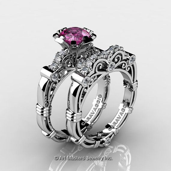 Art Masters Caravaggio 14K White Gold 1.0 Ct Pink by artmasters, $1899.00