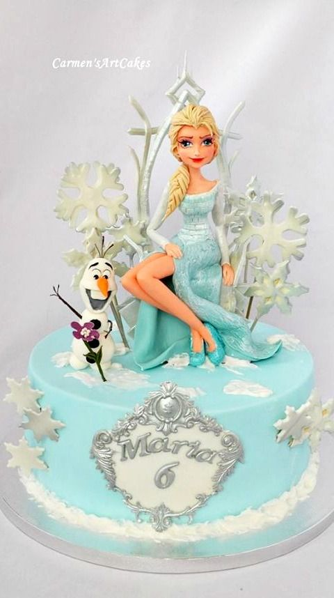 Princess Elsa Cake Images : 1000+ ideas about Elsa Frozen Cake on Pinterest Frozen ...