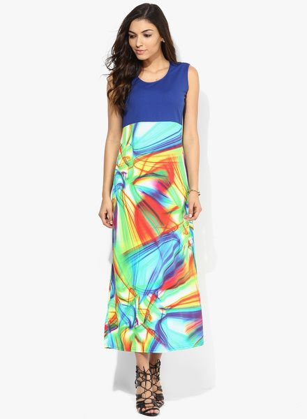 Buy Salt Multicoloured Printed Maxi Dress for Women Online India, Best Prices, Reviews | SA453WA75FJKINDFAS
