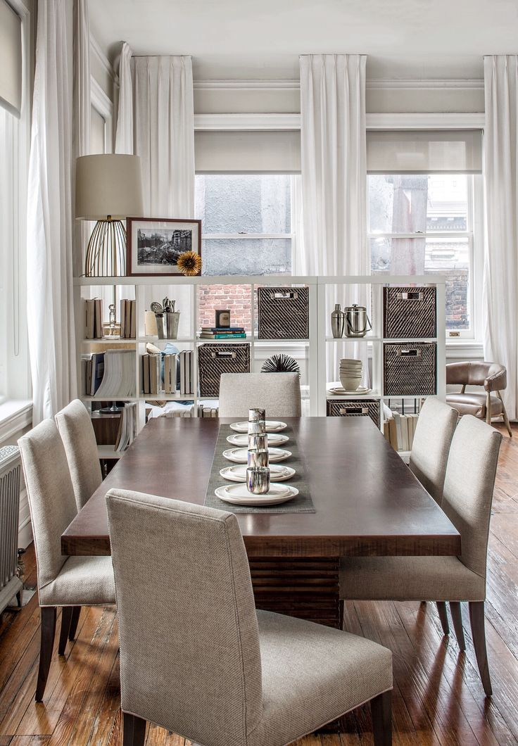 A contemporary rustic loft decor viewing union square chic and rustic dining room
