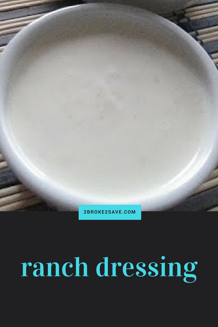 If you like Logan's Roadhouse Ranch dressing, you will like my RECIPE: Ranch Dressing