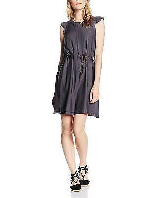 12, Grey - Grau (GREY 3 032), ESPRIT Women's Fließend Dress NEW