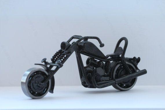 Hecho a mano motos motos Metal Coleccionables Arte Escultura