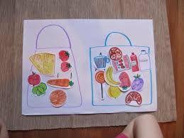 Znalezione obrazy dla zapytania zakupy praca plastyczna przedszkole