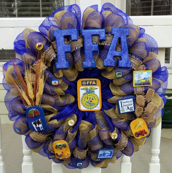Hey, I found this really awesome Etsy listing at https://www.etsy.com/listing/230651027/future-farmers-of-america-wreath-we-can