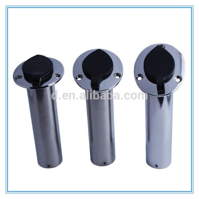 "Source Wholesaler fishing tackle stainless flush mount rod holder for rails 1-1/2""rod holder on m.alibaba.com"