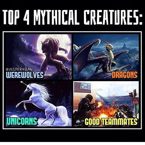 Top 4 mythical creatures in all history... Good team mate's are hardest to find from these…