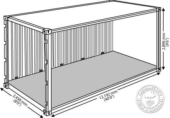 shipping container dimensions in meters - Google Search