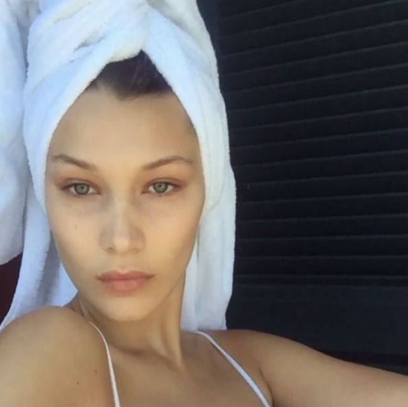 Bare-Faced Celebs: The Best No-Makeup Selfies on Instagram - Bella Hadid from InStyle.com