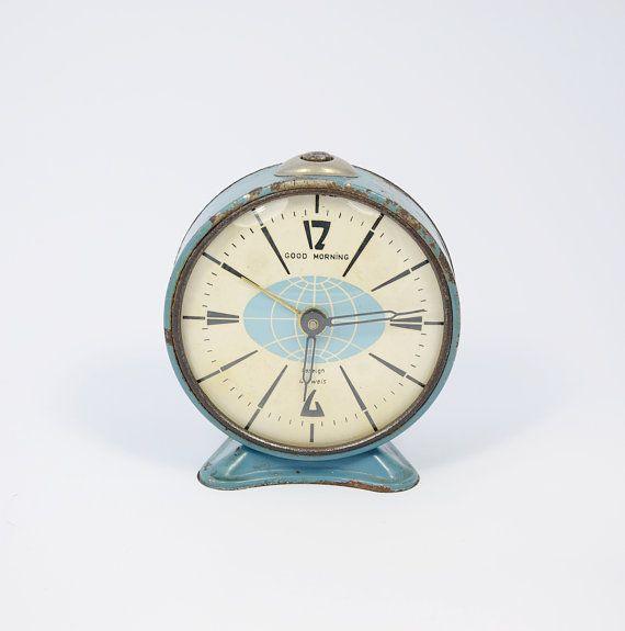 Rare Bulgarian Advertising alarm clock  marked by GeorgiVintage, $30.00