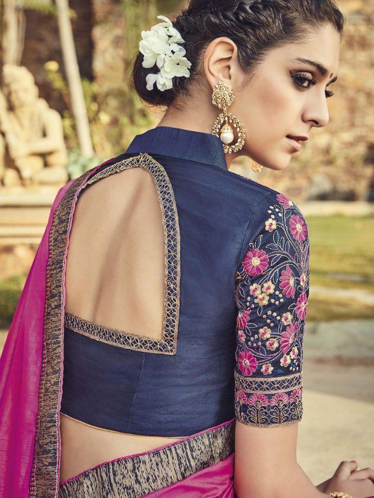 Pink Art Silk Saree with Zari Work