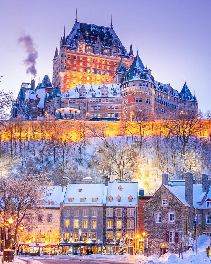The Iconic Chateau Frontenac In The Upper Town Of Quebec City Overlooking The Lower Town Quebec City Queb In 2020 Quebec City Winter Quebec City Christmas Quebec City