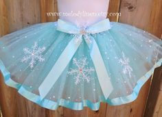 4 layers Frozen ribbon Tutu frozen birthday outfit by Melodylinen