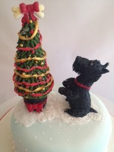 Scottie Dog Cake Decorations : 408 best images about Christmas and New Year cake ideas on ...
