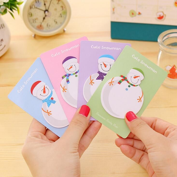 2017 Cute Kawaii Korean Snowman Christmas Gift Planner Stickers Sticky Notes Memo Pad Post It Office And School Supplies-in Memo Pads from Office & School Supplies on Aliexpress.com | Alibaba Group
