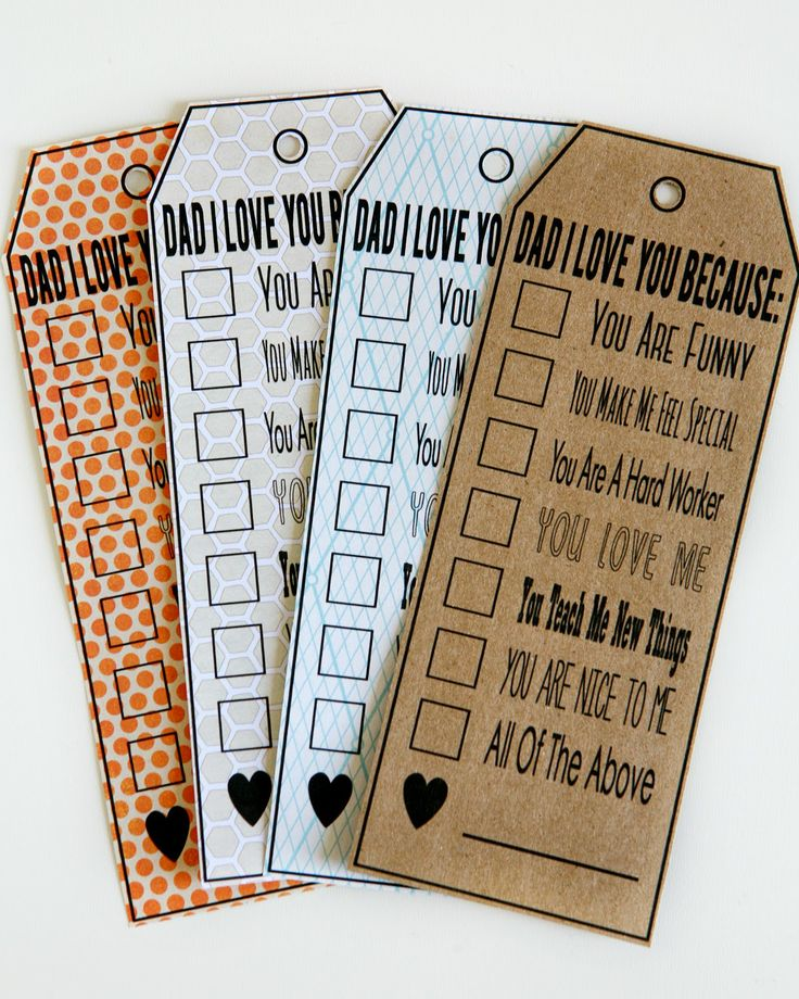 Check The Box Father's Day Tag - free printable