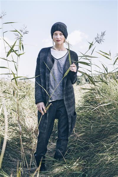 1417: Modell 3 Jakke i perlestrikk med lommer #Myk #strikk #knit