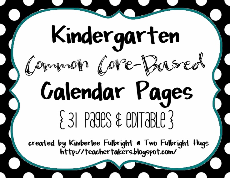Kindergarten Calendar Time Common Core : Best calendar images on pinterest