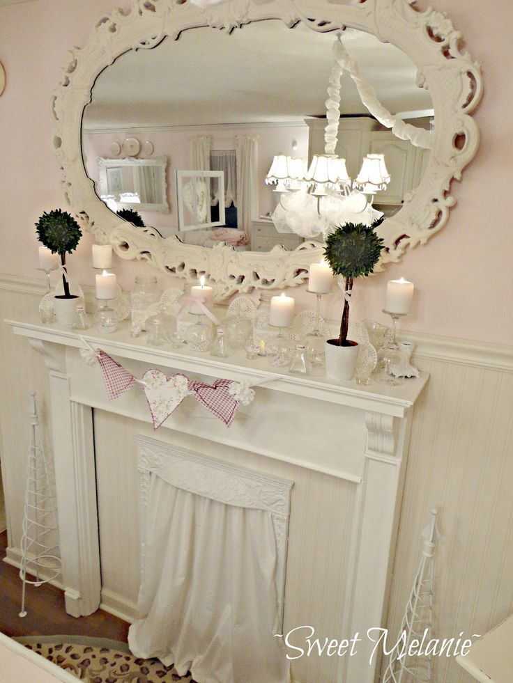 Love the drape over the fireplace opening.  ~Sweet Melanie~