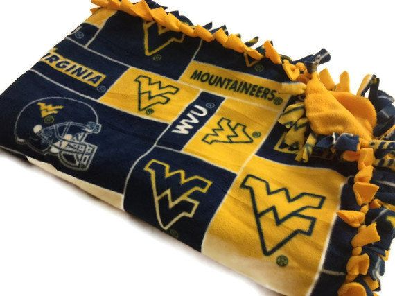 --- West Virginia University Mountaineers Fleece Blanket --- Check out our other college, NFL, MLB and NBA blankets!
