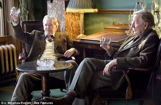 Difficult: Peter O'Toole's diva-like behaviour before filming even started on 'Venus' (pictured, with co-star Leslie Phillips), the role which won the actor his final Oscar nomintion