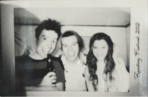 Nick Grimshaw, Harry Styles and Eleanor Calder at reading festival 2012!