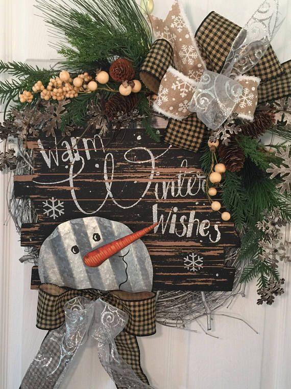 Winter Wreath Front Door