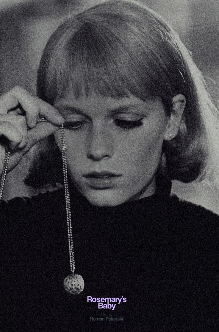 Mia farrow in Roman Polanski´s Rosemary´s Baby~~~I HAVE THE NECKLACE REPLICA! LOVE THIS MOVIE...SO CREEPY!!