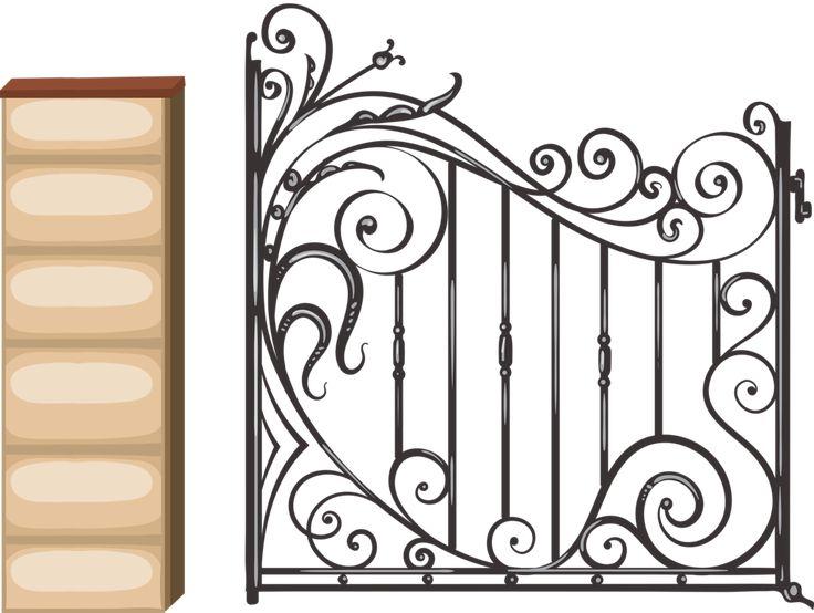 бывает так, забор с вензелями рисунок картинка письмо