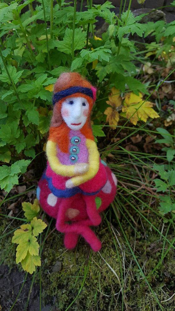 Garden spirit art doll by CallunaMoss on Etsy
