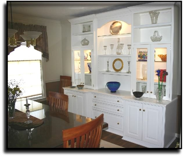 Dining room built in house details pinterest buffet for Dining room wall units furniture