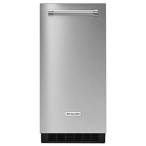 "KitchenAid KUIX505ESS 15"" Automatic Ice Maker w/Drain Pump - Stainless Steel"