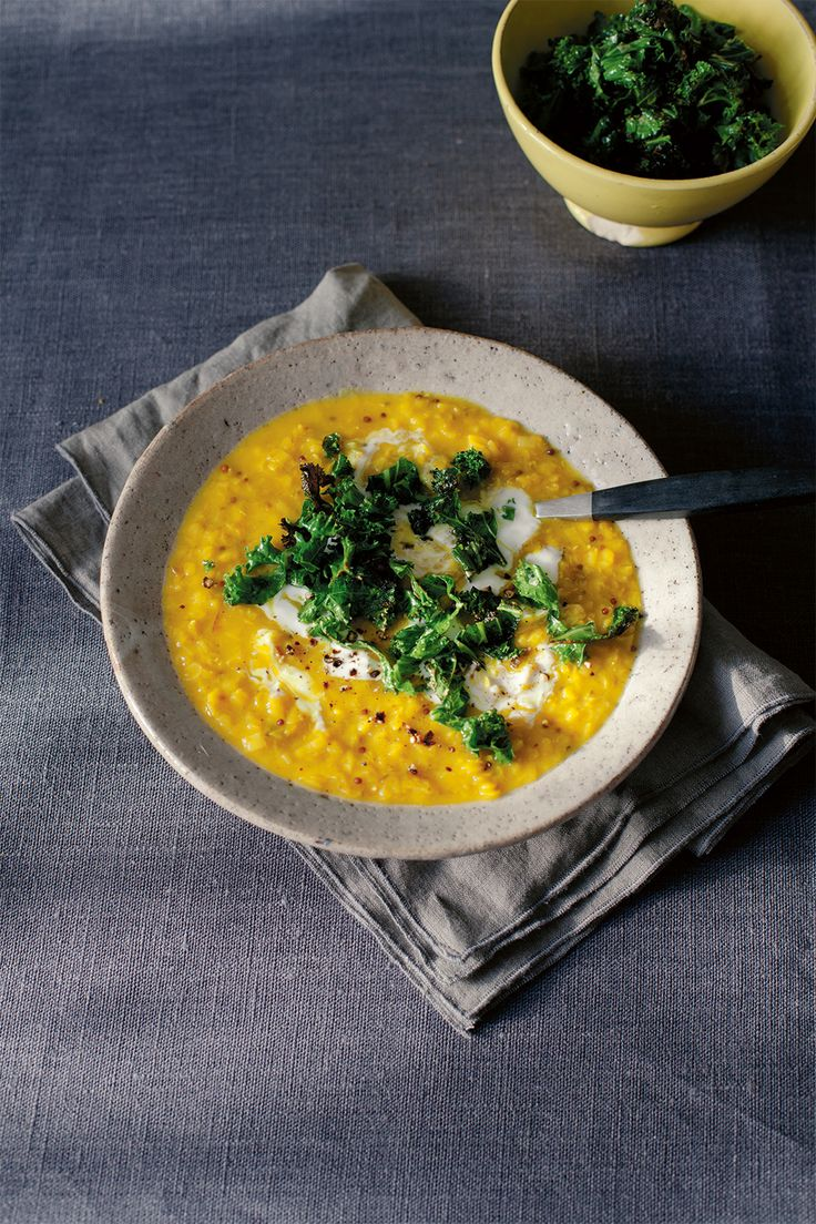 Lemony lentil and crispy kale soup (via At The Kitchen Table) Another gem from Anna Jones' brilliant A Modern Way to Eat. Everything we've made thus far from this cookbook has been a winner.