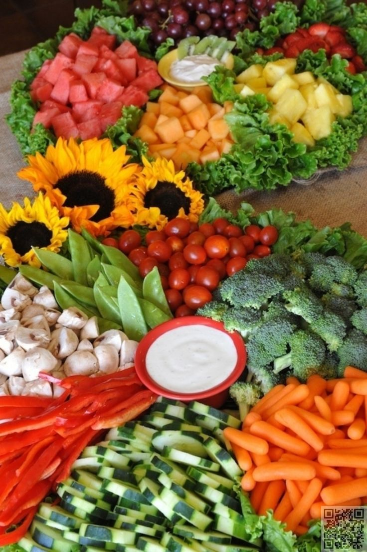 22. A #Colorful Spread - 31 Fab #Veggie  Displays for Your Next #Party ... →…