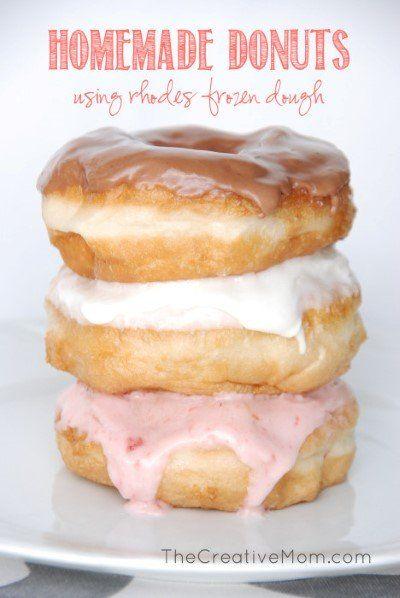 Use Rhodes Frozen Dough to make delicious homemade donuts.