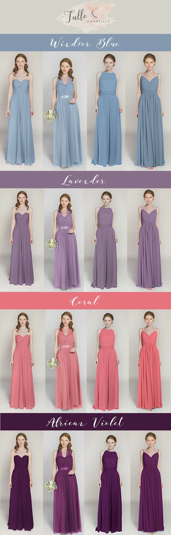 2017 trending bridesmaid dresses from tulle and chantilly