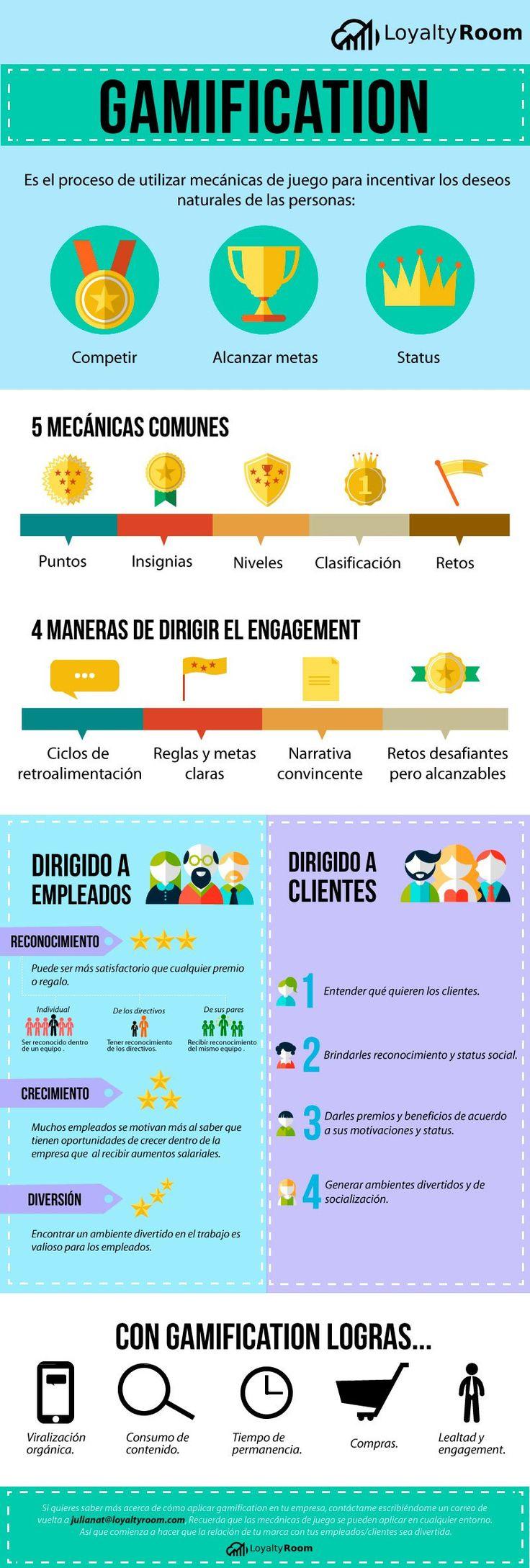 Qué puedes conseguir con la Gamificación en tu empresa #infografia #infographic #marketing