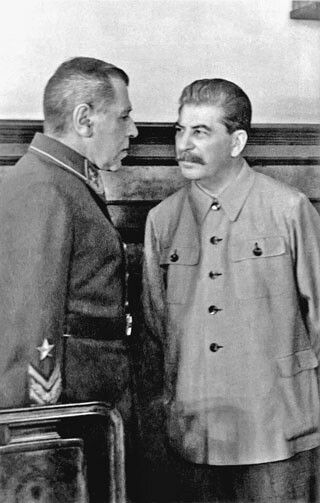 Stalin and marshal Shaposhnikov